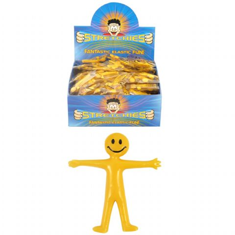 Stretchy Smiley Man - Yellow - Party Bag Filler / Favour